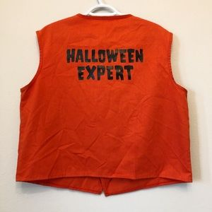 Halloween Expert Party City Orange Vest Uniform